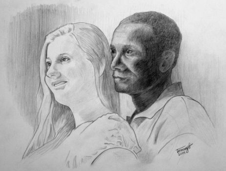 Portrait of Bri and Otto by tommyb709
