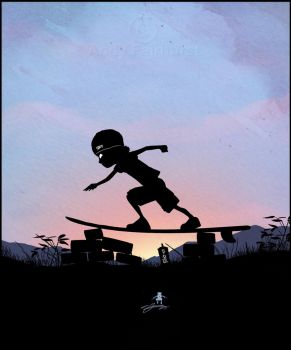 Silver Surfer Kid by AndyFairhurst
