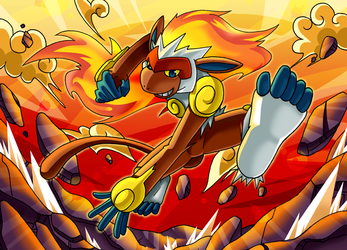 :All Fired Up: Infernape by endless-whispers