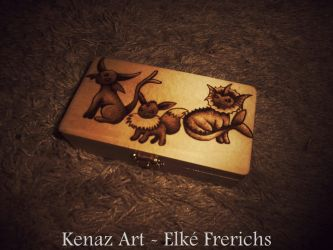Eeveelutions Pyrography by KenazArt