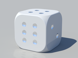 A Lonely Rounded D6 by vidthekid