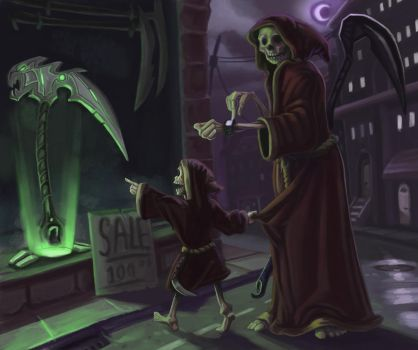 Grim Reaper and Son by LucasZebroski