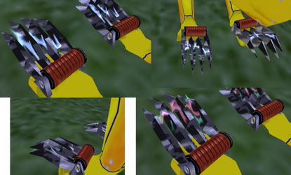 Tazer Claw (animated sparks) for feralheart. by FeralH-Abominations