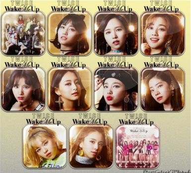 Twice Wake Me Up Icons by MissCatieVIPBekah
