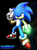 Sonic Doodle (Painted) by 1HardDan1