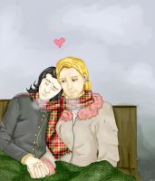 Thorki- Scarves and cold weather. by TheSparklelord8