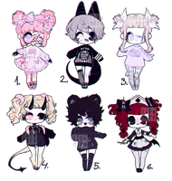 { cute monster adoptables | CLOSED } by lilanero