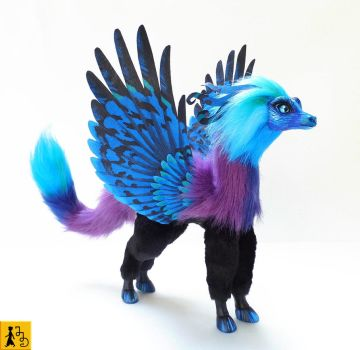 The Pegasus Dragon - posable art doll by Jerseydays