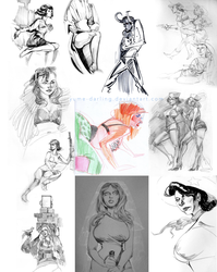Figure Drawing 2015 by yume-darling