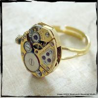 Steampunk Gold Tone Ring by SoulCatcher06