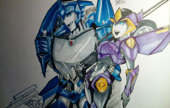 Blurr and Monolight by Wet-Xplosion