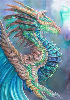 Forest River Dragon by dawndelver