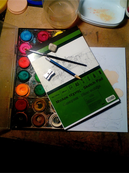 what materials i am using for my paintings by JohnKarnaras