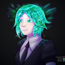 Phosphophyllite (Phos) by KimiaArt