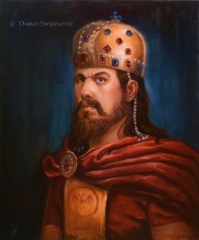 Emperor Stefan Dusan by Darko-Stojanovic-Art