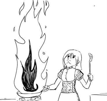 Cooking with a fierce passion. by SilenceKyo