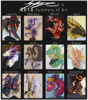 Art Summary of 2015 by StrayaObscura