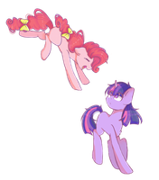 Collab - Pinkie and Twilight by MinervaOvO