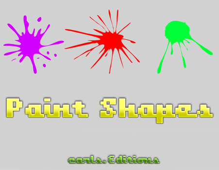 Paint Shapes by Carls-Editions