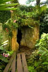 Hidden Cave in Rain Forest 2 by steppelandstock