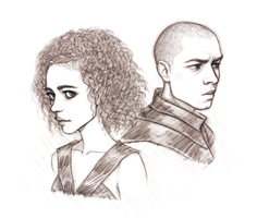 Missandei and Grey Worm - Game of Thrones by Naimly