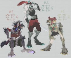 .:Adopts:. Pirate hyenas! [CLOSED] by SpectraArts