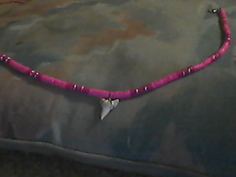 Shark tooth necklace by Dolphingurl21stuff