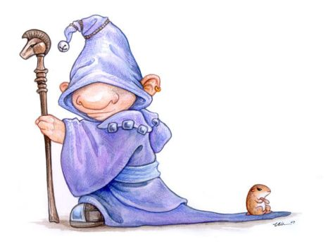 Gnome and Hamster by ursulav