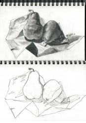 Still life - Two Pears by SuGaRLesSCaNdY