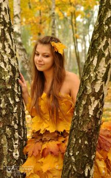 Girl-autumn by Swdream