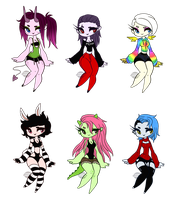 Creature Girl Adopts - [CLOSED] by FreckleLemonade