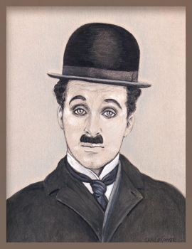 Jan LeComte Charlie Chaplin portrait by jantheempress