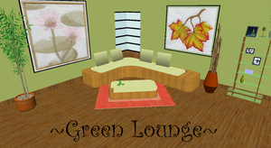 [MMD] Green Lounge DL by OniMau619