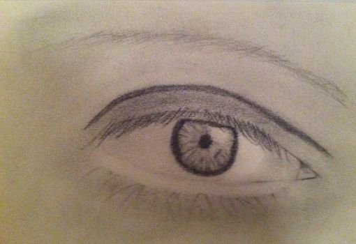 Pencil Drawing of an Eye by mysolublefish