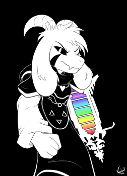 Asriel Dreemurr *edited* by VagabondWolves