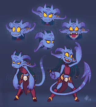 Eskah Character Sheet - Imp Game by NightHead