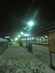 Snow and Light in the Station by Jakeukalane