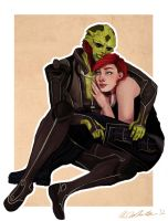 Thane and Ari by Sabrea