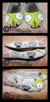 Shoes - Invader Zim 'GIR' - Filled In 2 by IndifferentPhotos