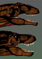 Version final de T-REX vs Giganotosaurus by Christopher252
