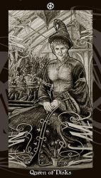 HP Tarot - Queen of Disks by Ellygator