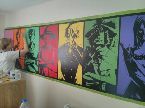 One Piece Crew in the bedroom - work in progress by Piticaillou