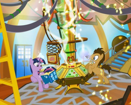 WIP- Doctor Whoof's TARDIS 03 by PixelKitties