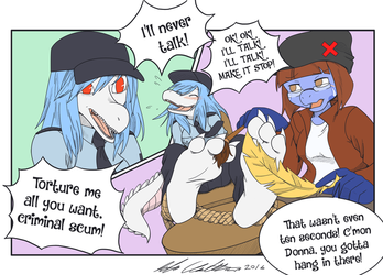 Com - Feathering A Flatfoot Fed by HomunculusLover