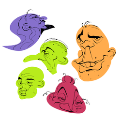 Face shapes by foxcrusade