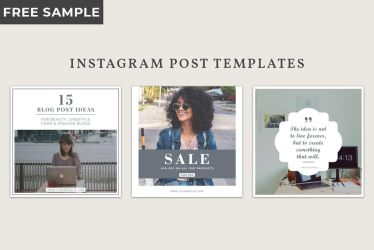 Free Instagram Post Templates by symufa