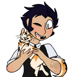 Marcus and his cats by Goatlinqs-JPG