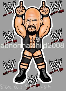 stone cold steve austin color by abnormalchild