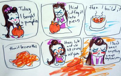 Today I ate too much Pumpkin Lolllz by 17cherry