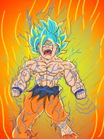 Goku explodes  by chris806